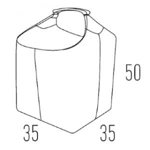Odinis malkų krepšys