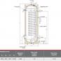 Karšto vandens šildytuvas AE HR-200,200l,šilumokaičio plotas 1,8 m2