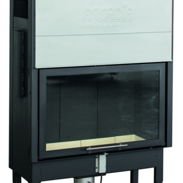 Plieninis židinio ugniakuras Arcadia Vita frontale 80, SL pakeliamu tiesiu stiklu 512 mm