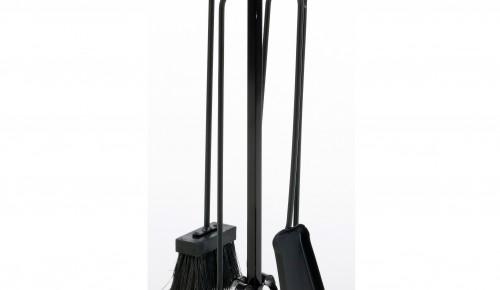 Plieniniai židinio įrankiai 4-ių dalių SERPENTIN, H 50 CM